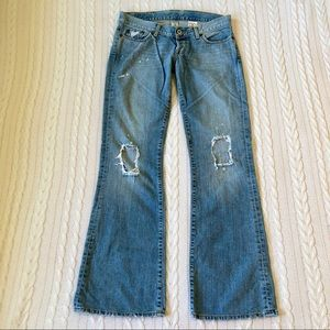 Light washed/distressed Lucky jeans